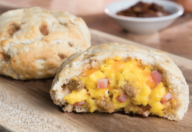 Meat Lovers Maple Stuffed Biscuit - Product Image