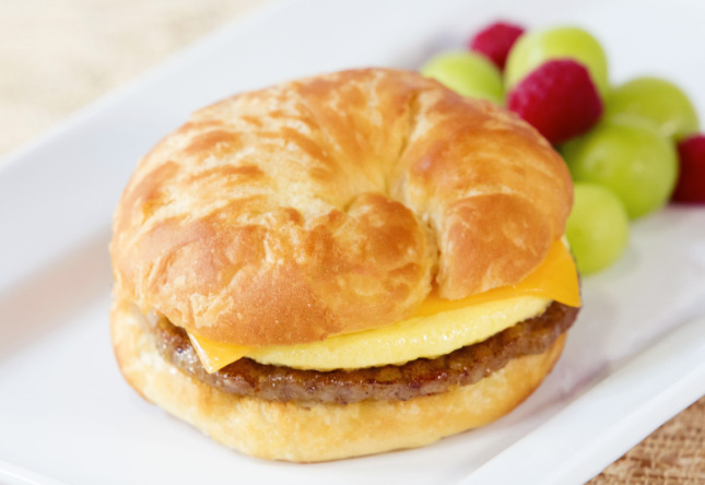 Sausage, Egg and Cheese Croissant - Product Shot 1