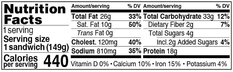 Nutrition Facts for Spicy Sausage on an Everything Bagel