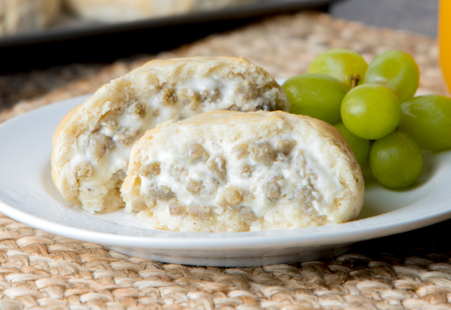 Sausage and Gravy Stuffed Biscuit - Product Image