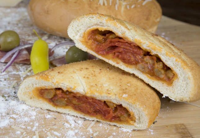 Sausage and Pepperoni Calzone - Product Image